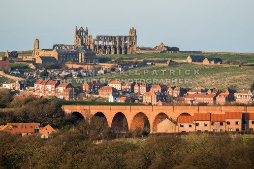Whitby Abbey High On The Hill Top. This image was taken from a vantage point above Ruswarp Village