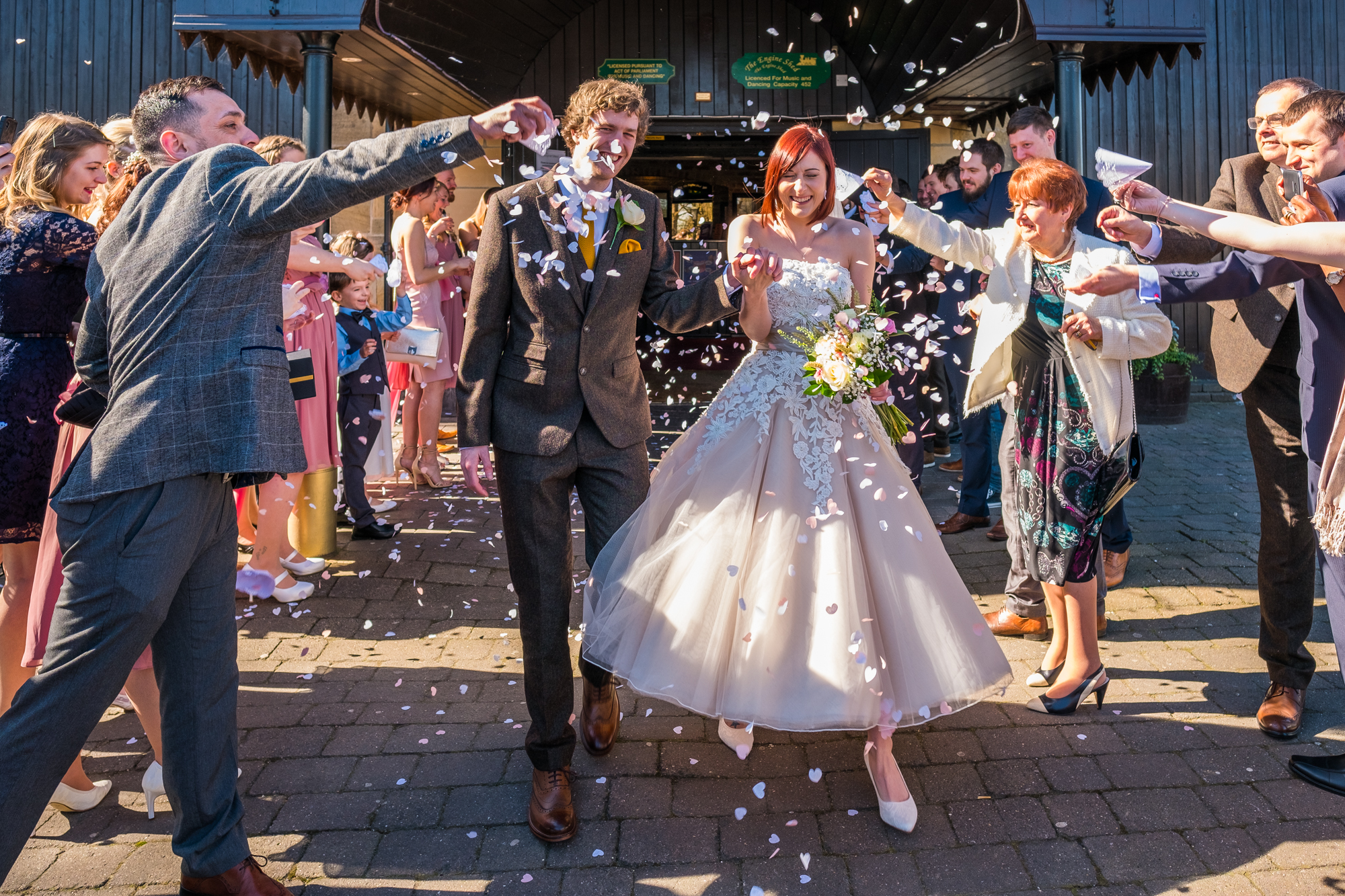 Weatherby Engine Shed Spring Wedding For Kevin And Emma