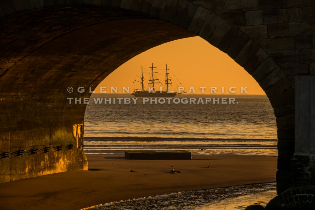 The Lord Nelson Sailing Boat Anchored Off Whitby - April 2017
