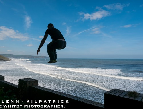 Parkour At Whitby During Goth Weekend.