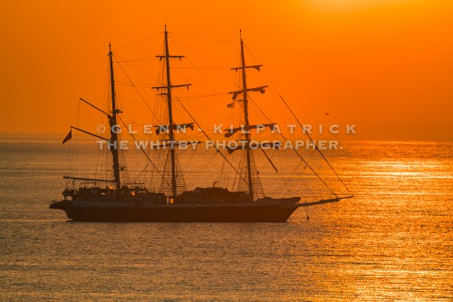 The Lord Nelson At Anchor Off Sandsend Near Whitby