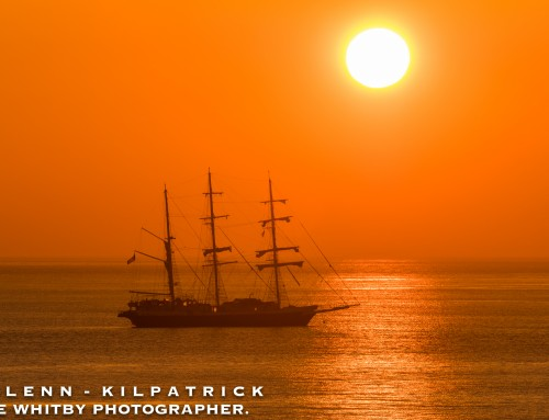Sunrise – The Lord Nelson Sailing Ship At Anchor Off Sandsend (Whitby)