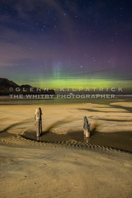The Northern Lights At Sandsend Near Whitby (1 of 1)-4