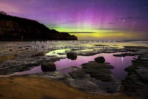 The Northern Lights At Sandsend Near Whitby (1 of 1)
