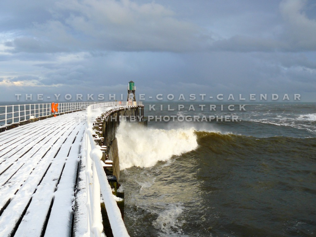 The Yorkshire Coast Calendar 2018 - A Snow Covered Whitby West Pier.