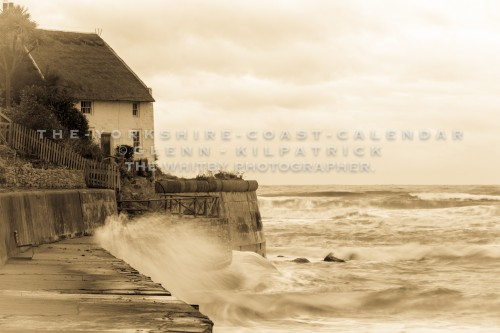 The Famous Thatched Cottage Of Runswick Bay - The Yorkshire Coast Calendar 2018 By Glenn Kilpatrick.