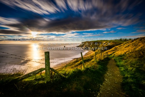 Full Moon Rising At Saltwick Bay - The Yorkshire Coast Calendar 2018 By Glenn Kilpatrick.
