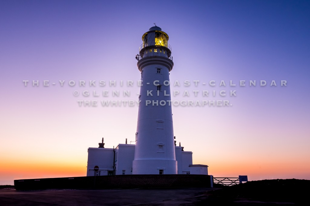 The Worlds Fastest Animal. Sunrise At Flamborough Lighthouse. - The Yorkshire Coast Calendar 2018 By Glenn Kilpatrick.
