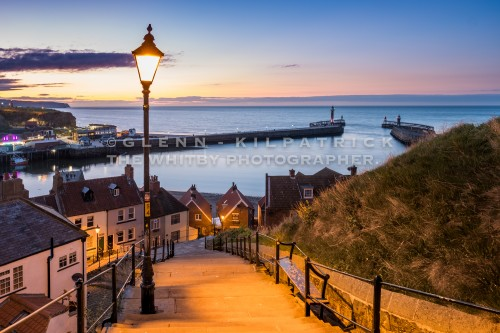 Whitby 199 Steps At Sunset