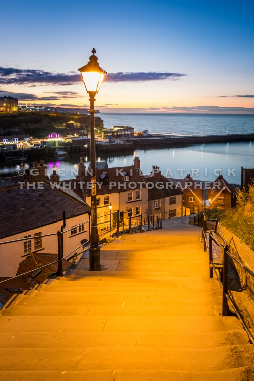 Whitby 199 Steps At Sunset In April 2017