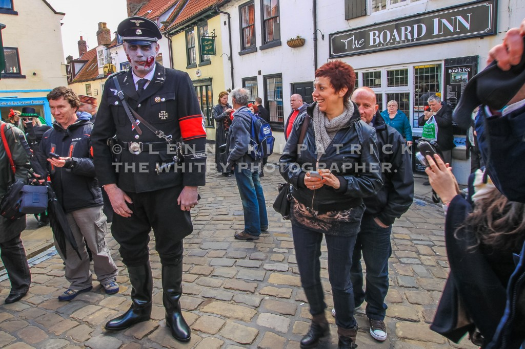 The Offending Article. - German SS Guard At Whitby Goth Weekend.