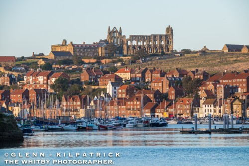 Whitby Harbour And Abbey View Taken from Near The New Bridge.