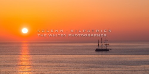 The Lord Nelson At Anchor Off The Yorkshire Coast - Whitby - Sandsend