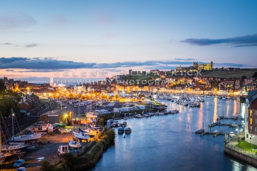 A View Over Whitby Harbour Taken From The New Bridge.