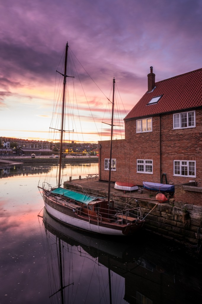 Whitby Harbour Sunset At Backpackers Hostel