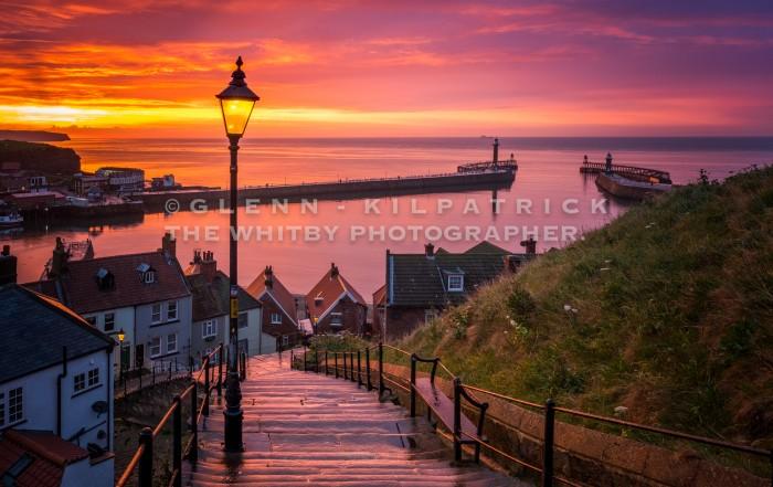 Whitby 199 Steps Sunset