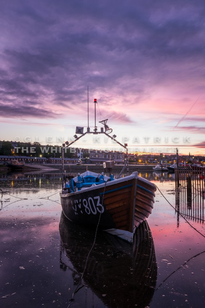 """Whitby Harbour Sunset - Whitby Boat """"RAN"""" At Calla Beck"""