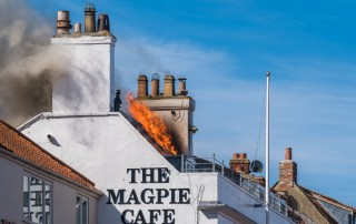 Whitby Magpie Cafe On Fire Again - Bank Holiday Monday May 1st 2017