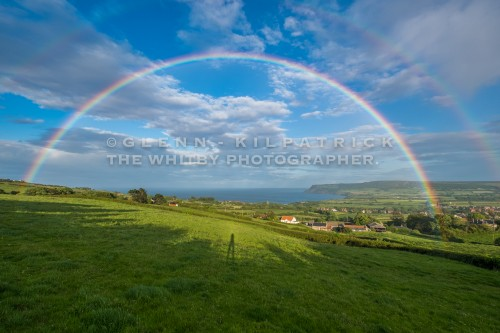 Double Rainbow Over robin Hoods Bay - June 15th 2017