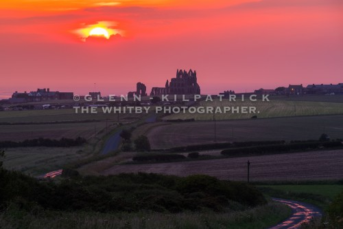 Whitby Summer Solstice Sunset 2017