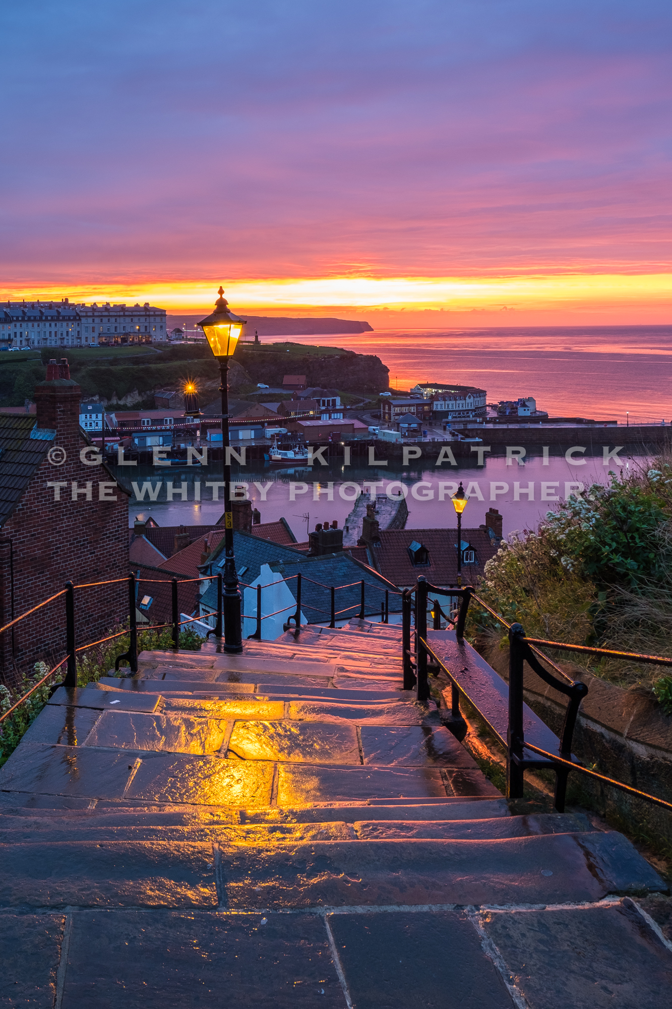 Whitby Sunset At The 199 Steps