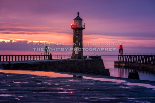 Whitby East Pier Sunset May 2017