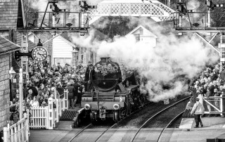 The Flying Scotsman At Grosmont Station. A4 Framed Print Auction