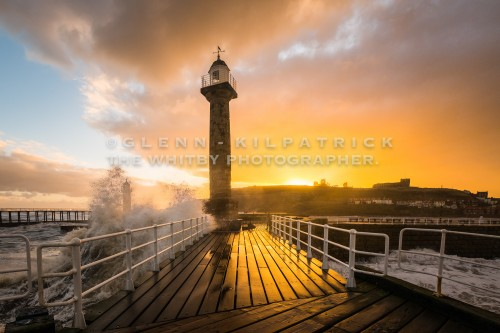 Winter Sunrise At Whitby West Pier