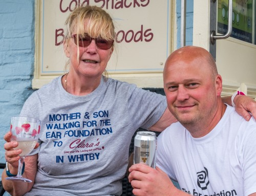 Mum And Son Walk Coast To Coast For Ear Foundation.