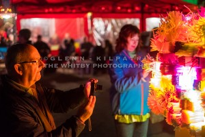 Festival Goers Enjoy the Various Lightshows At Cowbar Nab