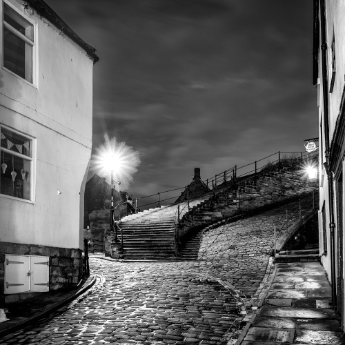 Whitby 199 Steps Square Canvas