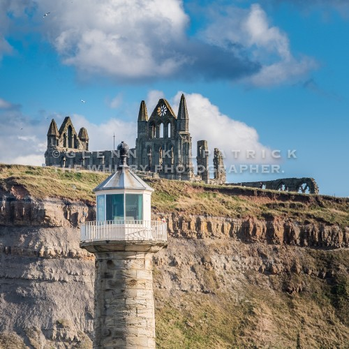 Whitby Abbey Square Canvas
