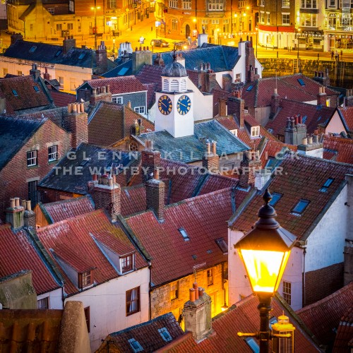 Whitby Old Town At Dusk