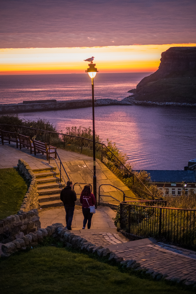 Sunrise At Whitby West Cliff