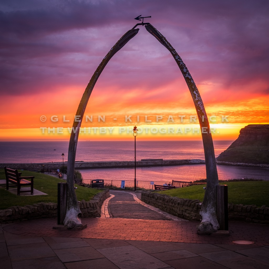Sunrise At Whitby Whale Bones
