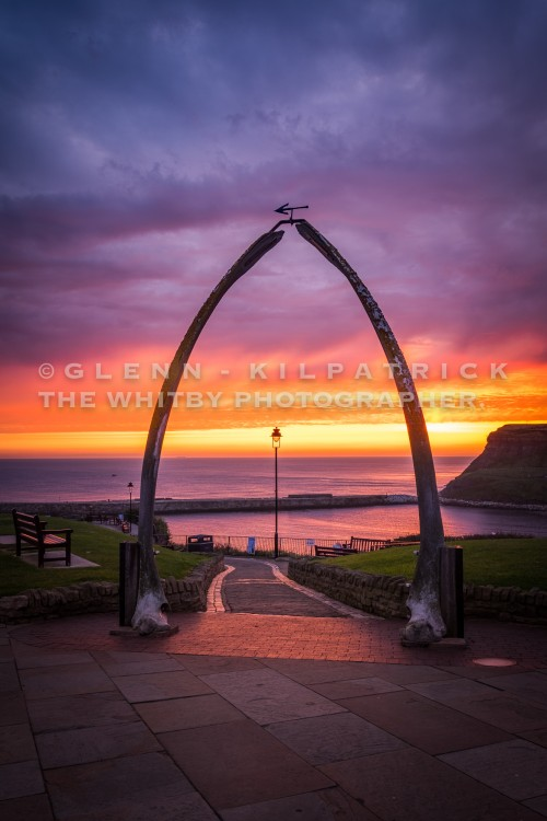 Sunrise Colour At Whitby Whale Bones