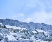 Snow In Sandsend Valley - Whitby Christmas Cards
