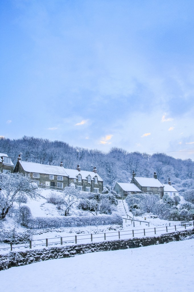 A Snow Covered Sandsend Valley A5 Whitby Photography