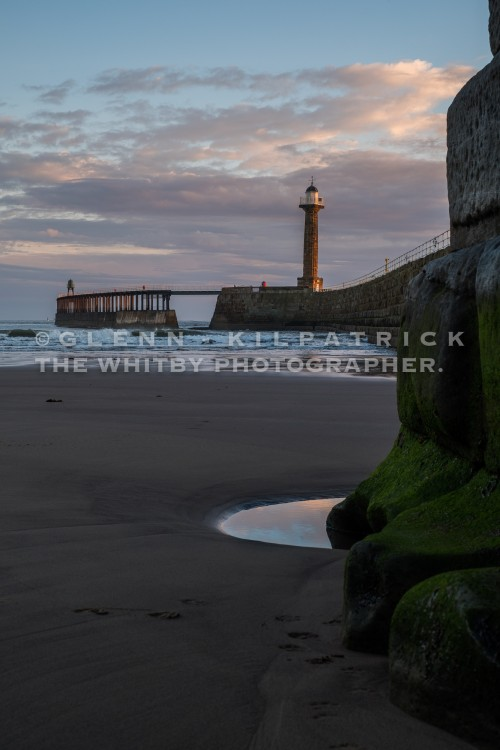 Whitby West Pier With early Morning light