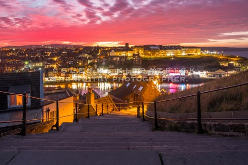 Whitby Sunset From The Top Of The 199 Steps