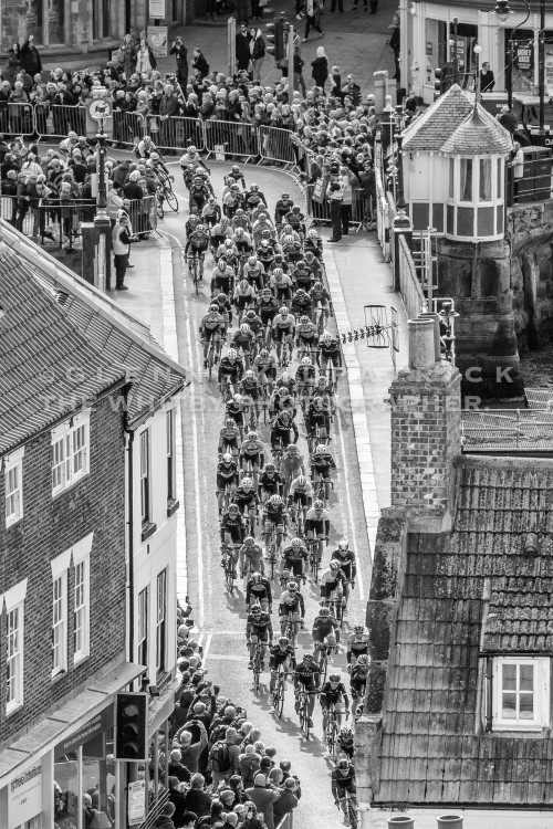 Tour De Yorkshire On Whitby Swing Bridge