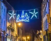 Church Street At Christmas. A5 Christmas Card.