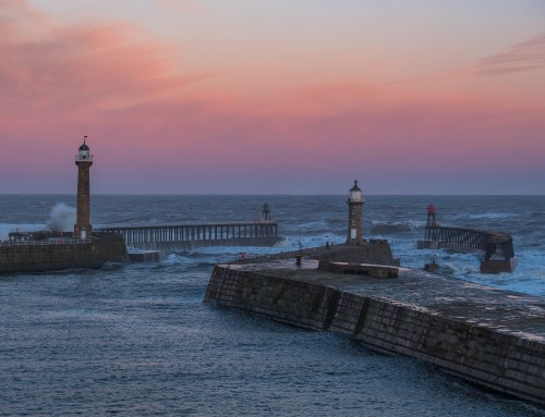 Rough Seas At Whitby – Storm Caroline Hits The Yorkshire Coast