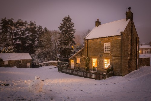 Hutton Le Hole, North York Moors In The Snow.