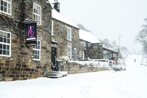 Heavy Snow In Danby Village - Yorkshire Christmas Card