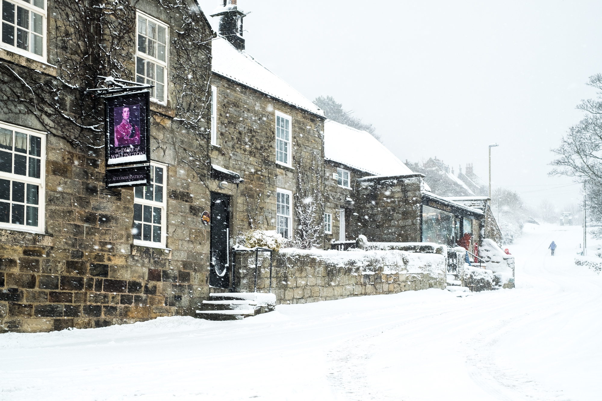 Heavy Snow In Danby Village - Yorkshire Christmas Card A5 - Whitby ...