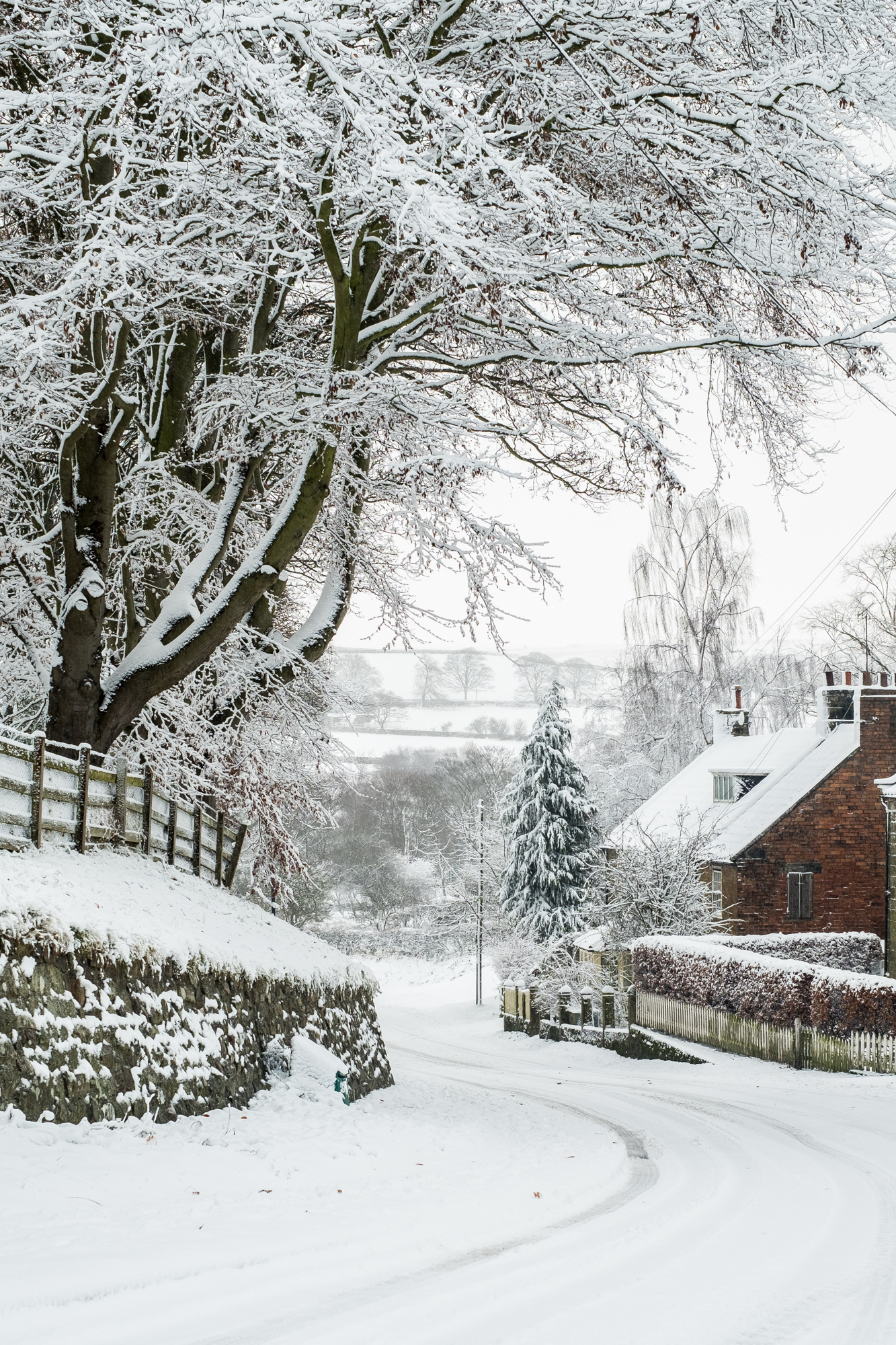 Snow At Ainthorpe, Danby - A5 Christmas Card - Whitby Photography