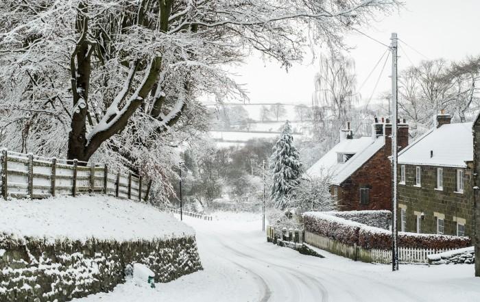 Ainthorpe Village Snow Scenes - Danby, North York Moors A5 Christmas Card