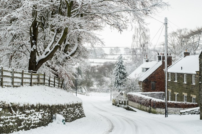 Ainthorpe Village Snow Scenes - Danby, North York Moors A5 Christmas Card