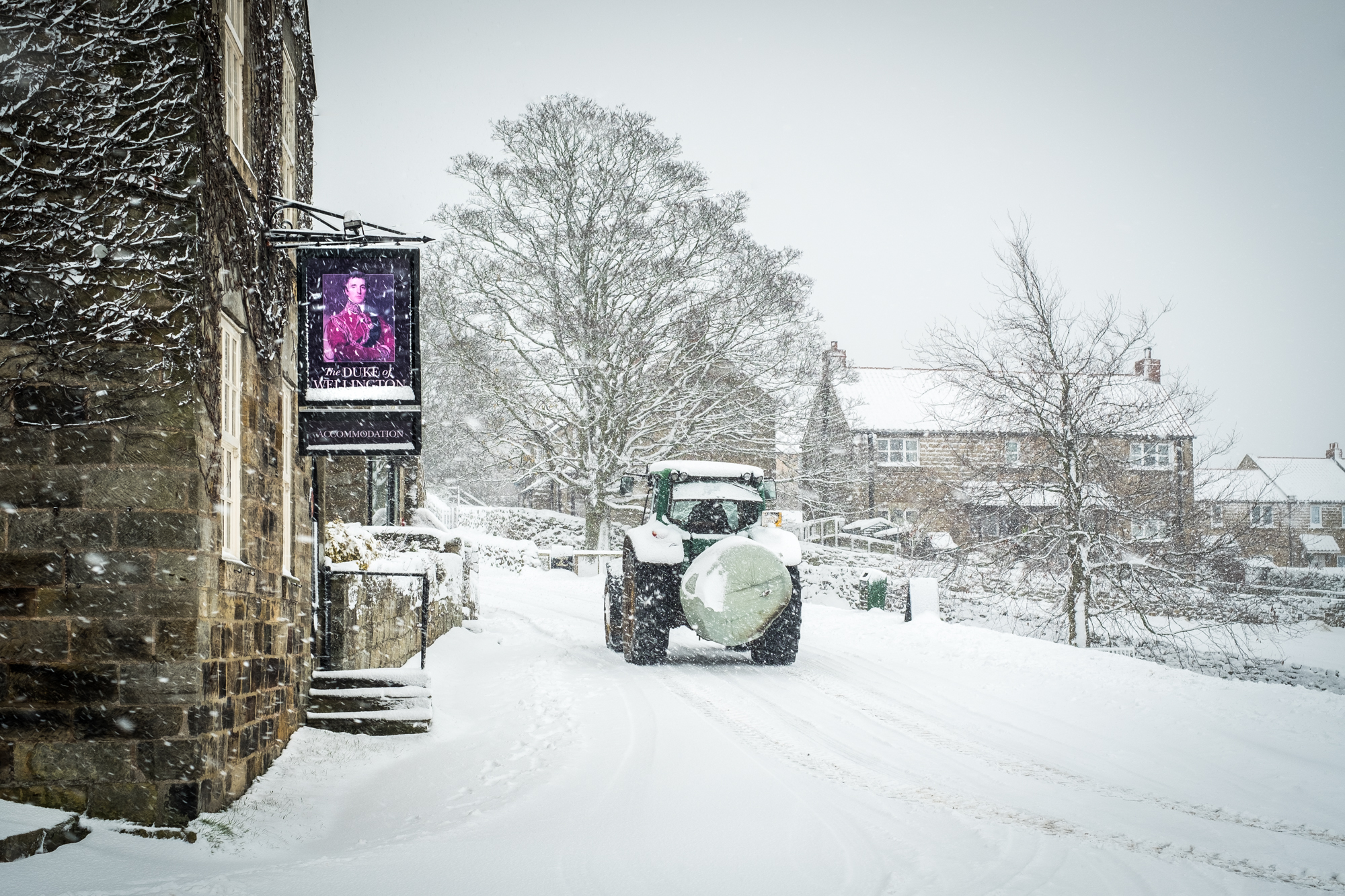 Danby Village Snow - A Farmers Work Is Never Done - A5 Christmas ...
